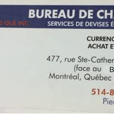 bureau de change 8 bureau de change opening hours 477 rue sainte catherine o