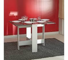 fabriquer table pliante murale table de cuisine pliable leane blanc et gris tables but