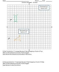 dilation worksheet cc 8 g 3 by math monkey teachers pay teachers