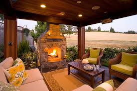 Traditional Outdoor Furniture by Gazebo Fireplace Patio Traditional With Stone Fireplace