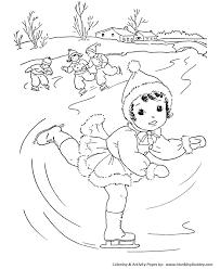 winter coloring kids outdoor winter activities coloring