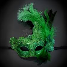 green mardi gras s masquerade masks for men and women free shipping