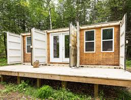 canadian homes joseph dupuis shipping container home lead amys office