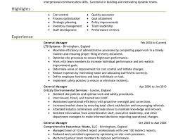 resume management amazing it resume writer general manager