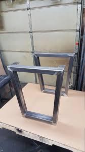 Flat Bar Table Legs Metal Table Legs Flat Bar By Steelimpression On Etsy Project