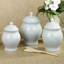 Ceramic Canisters For The Kitchen Pottery Canister Sets Glass Canisters With Metal Lids Flour And