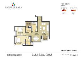 pioneer park floor plan pioneer park sector 61 gurgaon
