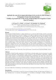 transfert de si e social sci salinization risk assessment of soil and pdf available