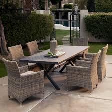Hampton Bay Patio Dining Set - hampton bay patio furniture with wicker dining chairs and dark