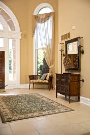 Curtains For Front Door Splashy Sidelight Curtains In Traditional Boston With Molding