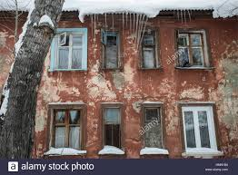 two storey house omsk russia 15th feb 2017 an old two storey house the russian