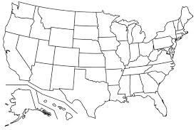 empty map of united states 17 blank maps of the u s and other countries