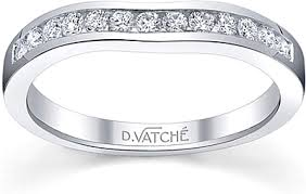 channel set wedding band vatche fitted channel set wedding band 209