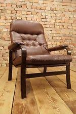 Danish Leather Armchair Vintage Leather Armchair In Sofas Armchairs U0026 Suites Ebay