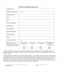 scholarship contract templates maker scholarship