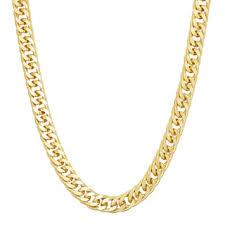 curb chain necklace mens images Men 39 s 14k gold over silver curb chain necklace 20 in null