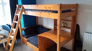High Sleeper With Sofa And Desk Thuka High Sleeper Bed With Pull Out Sofa Bed And Desk In