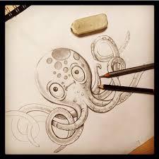 octopus sketch octopus art under the sea octopus drawing fish