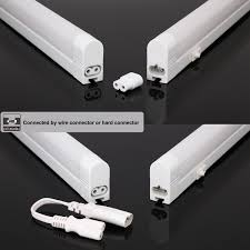 led light bar under cabinet 2 pack extendable led under cabinet integrated t5 tube light