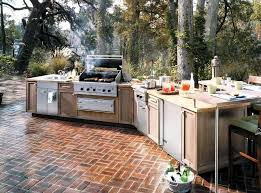 modular outdoor kitchen islands outdoor modular outdoor kitchen with wooden cabinet and attached