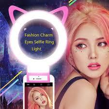 best led ring light cat ear charm eyes clip selfie ring light fashion led selfie flash
