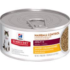 hill u0027s science diet hairball control savory chicken entrée