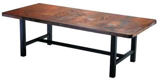 Copper Top Dining Room Tables Copper Dining Table U2013 Rhawker Design