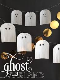 ghost fringe halloween garland