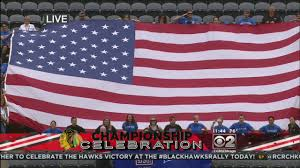 Is Today Flag Day Blackhawks Tradition The National Anthem La Times