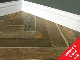 engineered lacquerd smoked limed herringbone oak flooring
