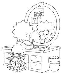 simpsons colouring pages 27 print color free