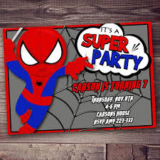 colors classic free spiderman birthday invitations templates for