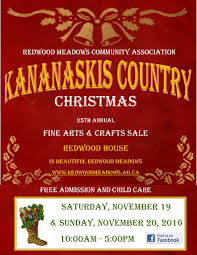 kananaskis country christmas craft fair november 19th and 20th