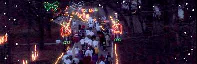 santa land here lighted sign santaland