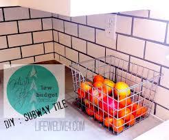 How To Install Subway Tile Kitchen Backsplash by Diy How To Install Kitchen Backsplash Subwaytile