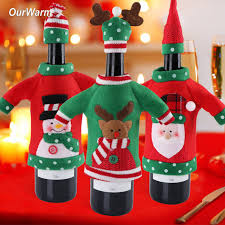 Office Decoration On New Year by Aliexpress Com Buy Ourwarm New Year Decoration Red Wine Bottle