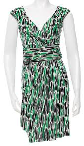 diane von furstenberg green cream black celosa print wrap dress