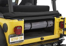 how to store jeep wrangler top bestop hoss window storage duffle in charcoal for bestop and