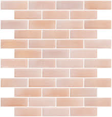 1x3 inch matte peach pink glass subway tile for backsplash
