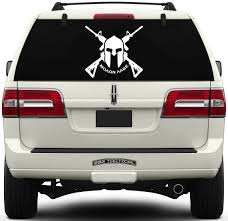 Come And Take It Flag Molon Labe Window Decal Crossed Ar 15s U0026 Spartan Helmet