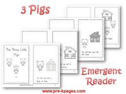 pigs literacy activities pre kindergarten
