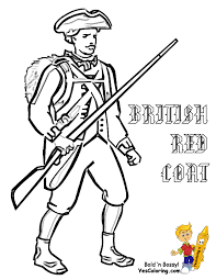 revolutionary war soldier templates america army coloring page