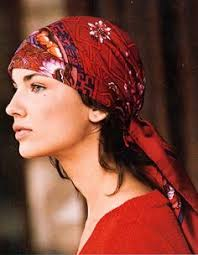 simple hair bandana for covering patch of bald head for ladies how to tie a headscarf rosette style google search footloose