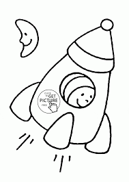 simple rocket coloring page for toddlers transportation coloring