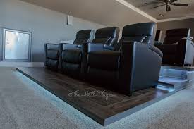 home theater seating platform home theater u2013 final reveal the hall way