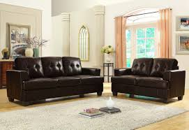 sofa match homelegance keaton sofa set dark brown bonded leather match