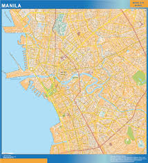 Metro Manila Map by Manila Wall Map Order Australia Wall Maps
