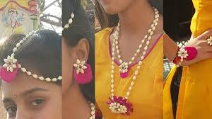 flower jewellery how to make real flower jewelry for mehndi and other fucntions new