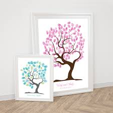 tree of love fingerprint guest book printable wedding