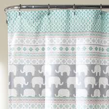 amazon com lush decor 16t000122 elephant stripe shower curtain